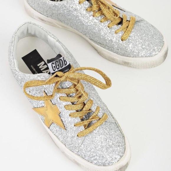 38d97d294e3e Golden Goose Shoes | New May Sneakers Silver Mattegold | Poshmark